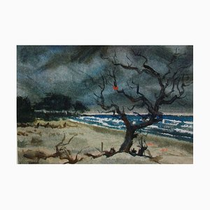 Usedom Beach, Watercolor