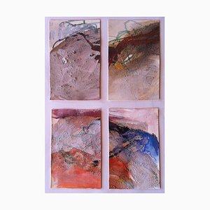 Jung in Kim, Abstrakte Aquarellmalerei