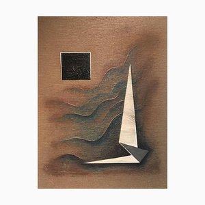 Rudolf Ortner, Plastic Ben Muthofer, 1982, Huile Sur Papier