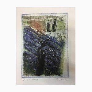 Irmi Long-Kummer, Berlin, Wild Lavender, 1935, Color Etching