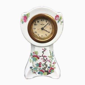 Belgische Porzellan Kaminsims Uhr