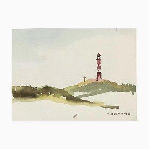 Malte Kindt, Wiesbaden Sylt Schleswig-Holstein, 1998, Watercolor