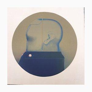 ERHARDT Hans Martin 1935-2015, Head in Blue, 1968