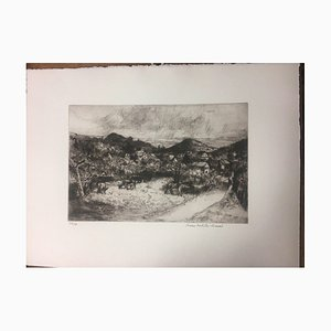 Müller-Linow Bruno 1909-97, Odenwald / I Annual Gift Merck, Dry Point