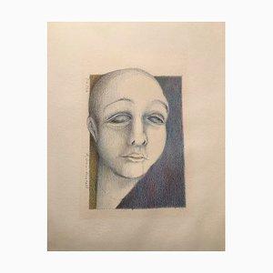 Renate Grau-Hintz, Die Toten, 1979, Crayon Drawing