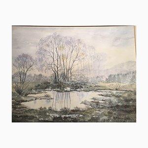 Christa Strothjohann, Pond Stumpled, 1987, Watercolor
