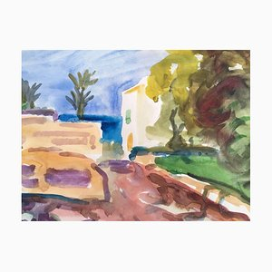 Heymo Bach, Kos Summer, 1985, Watercolor