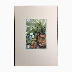 Hans Kohler, Balcony Plants, 1985, Watercolor