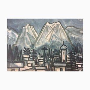 Vincent Burek, montañas del Bayern, acuarela