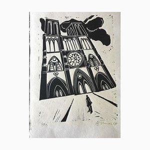 Hans Jürg Brunner, Franz Kafka The Process, 1964, Linocut
