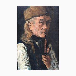 Bauer, Oil on Masonite