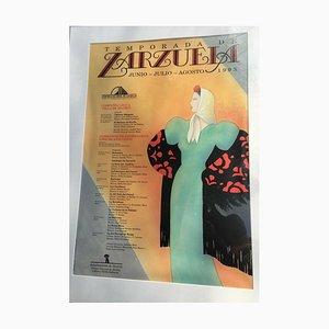 Zarzuela Juin 1993 Affiche Saison Centro Cultural De Madrid