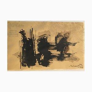 Wilfried Reckewitz, 1925-1991, Encre sur carton