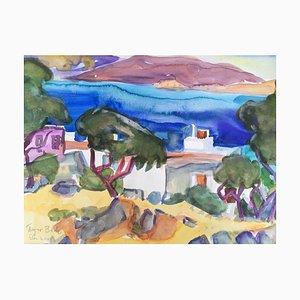 Heymo Bach, St. Nicolas Bay Crete, 1994-1997, Watercolor