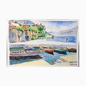 Limone Gardasee Garda, 1960, Aquarell