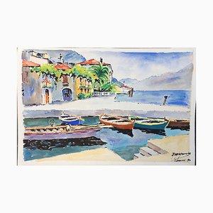 Limone Gardasee Garda, 1960, Aquarelle