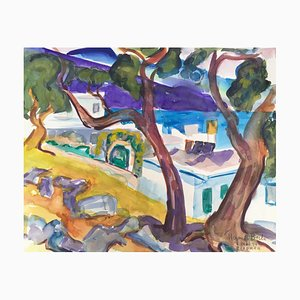 Heymo Bach, Elounda St. Nicolas Bay, 1994, Aquarell