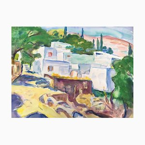Heymo Bach, Mai Lindos Mai St. Paul's Bay, 1996, acquerello