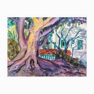 Heymo Bach, Rhodos Park, 2002, Aquarell