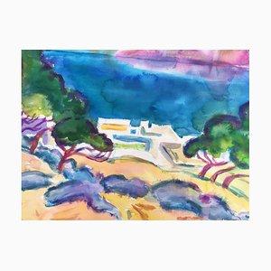 Heymo Bach, Mai Elounda, Kreta St. Nicolas Bay, 1997, Aquarell