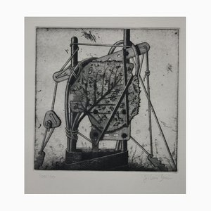 Jürgen Dreistein, Blatt, gravure à l'eau forte
