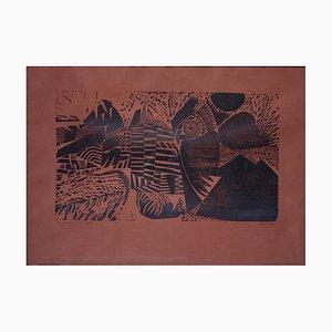 Alfred Pohl, El Condor Pasa, 1970, Woodcut