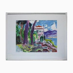 Heymo Bach, Comer Tremezzo Villa Carlotta, 1999, Watercolor