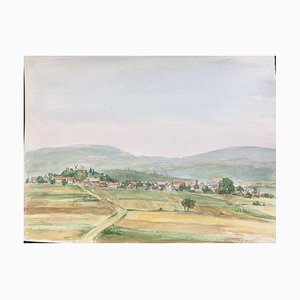 Wilhelm Hagemüller, 1916-2011, Jesberg B3 North Hesse, Watercolor