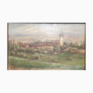 Eschwege Heinrich, Church and Monastery, Oil Painting