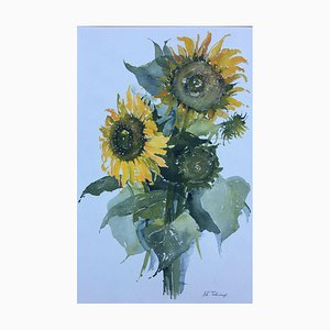 Maria-Therese Tietmeyer, Sunflower Kronberg, Watercolor