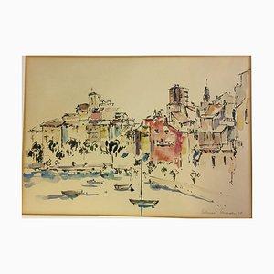 Heinsohn Helmuth,1958, Lake Garda, Watercolor