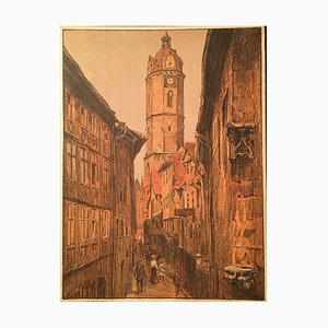Otto Westphal, 1878-1975, Promeniergasse, Lithographie