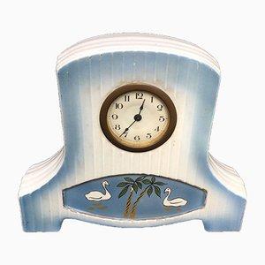 Art Deco Porzellan Uhr