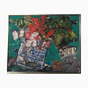 Norbert Fritsch, Montvicq Blumenstillleb, 1952, Oil on Canvas
