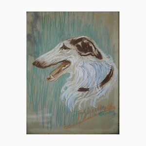Russian Greyhound, Pastel