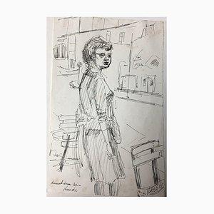 Kress Karlheinz, Wolfgang Fiege, 1961, ink Sketch
