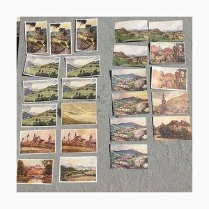 Pedro Schmiegelow, Postcards, Set of 33