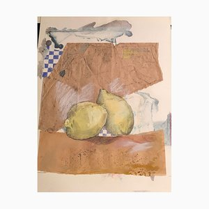 Leonore Zimmermann, 1950, Fruit Series Zitonen III, Watercolor