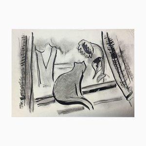 Lampada a forma di inchiostro di Hellmuth Mueller-Leuter, At The Window Cat