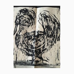 Karlheinz Kress, Poultry, 1928-1979, Woodcut
