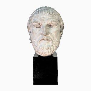 Griechischer Gedrehter Marmorator Kopf