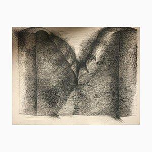 Peter O. Knapp, 1978, Tinte Sketch Skulptur
