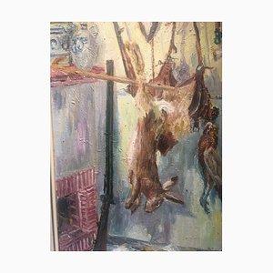 Carl Erich Arabin, 1918-1995, Grove Hunting, óleo sobre lienzo
