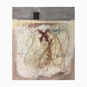 Bergmann Jan, Living in Berlin MT / Collage, 1959, Dachshund Hair on Paper