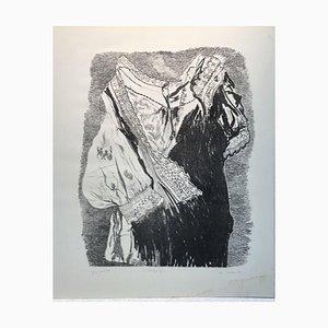 Marianne Lohfink-Liesem, Study of Costume Dress, Lithograph