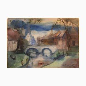 Acquerello di FW Mundinger, 1929, Paula Modersohn-Beck