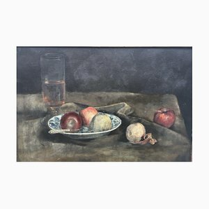 Still Life Apples, Oil on Canvas