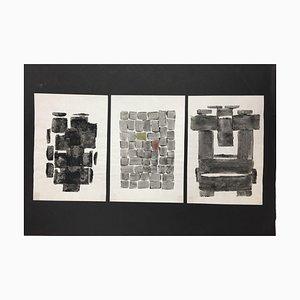 Hellmuth Mueller-Leuter, No.5 Triptych, ink