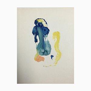 Composizione di acquerello di Hellmuth Mueller-Leuter, nr. 26