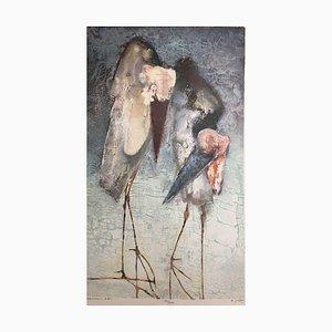 Edwin Salomon, Two Gilbert Birds, 1935, Litografía